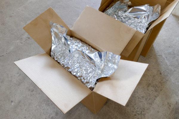Cashews in Kisten kurz vor dem Verschicken